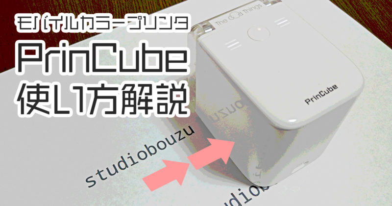 ハンディカラープリンタ「PrinCube」の使い方解説&レビュー|スタジオ・ボウズ