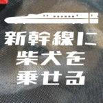 新幹線に柴犬を乗せる方法